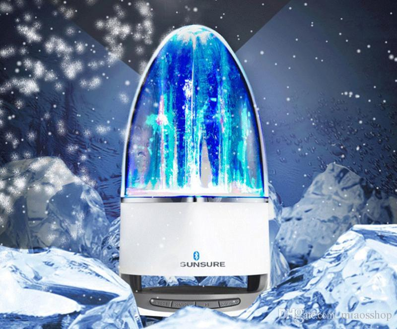 Fashion Subwoofer LED Music Fountain Water Dance Bluetooth Speaker With TF Card Slot Stereo Bass and Computer MP3 Audio Input.