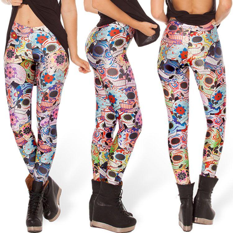 wholesale sugar skull leggings yoga leggings galaxy legging