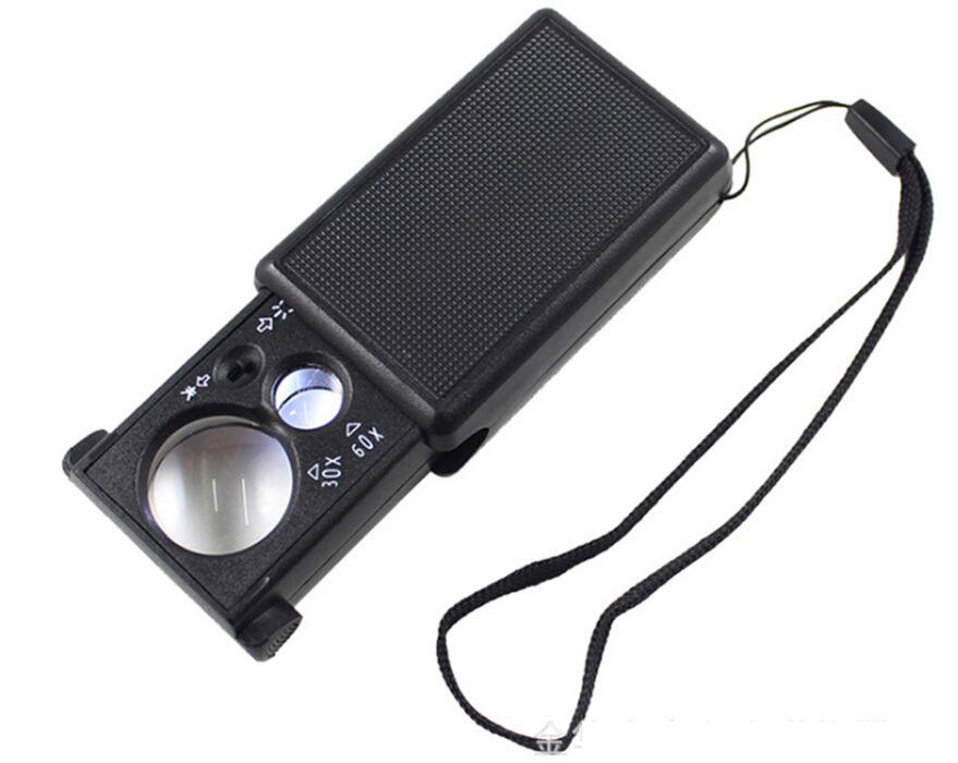 最新のデュアルレンズ照明拡大鏡紙幣、ストレッチ型レンズルーペ9881ジュエリー、アンティークジェイドの識別