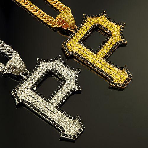 Wholesale gold silver plated plated rhinestone letter p pendant wholesale gold silver plated plated rhinestone letter p pendant necklace for hip hop rap punk men long chain jewelry silver locket mens pendants for mozeypictures Gallery