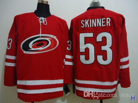 hot sale mens carolina hurricanes jersey 53 jeff skinner red hockey jersey