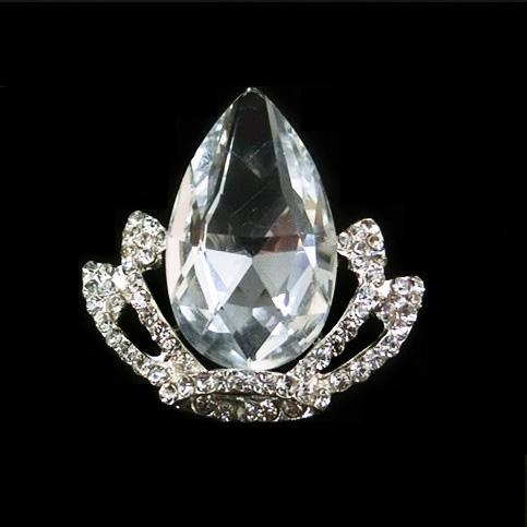 2016NEW!  wholesale crown shape rhinestone brooches for wedding invitation card ,wedding bouquet decoration ,good quality