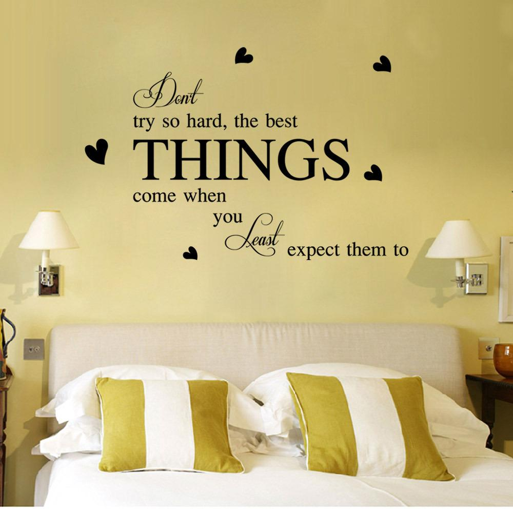 English Proverbs Trade New Wall Stickers Do Not Try So Hard ...