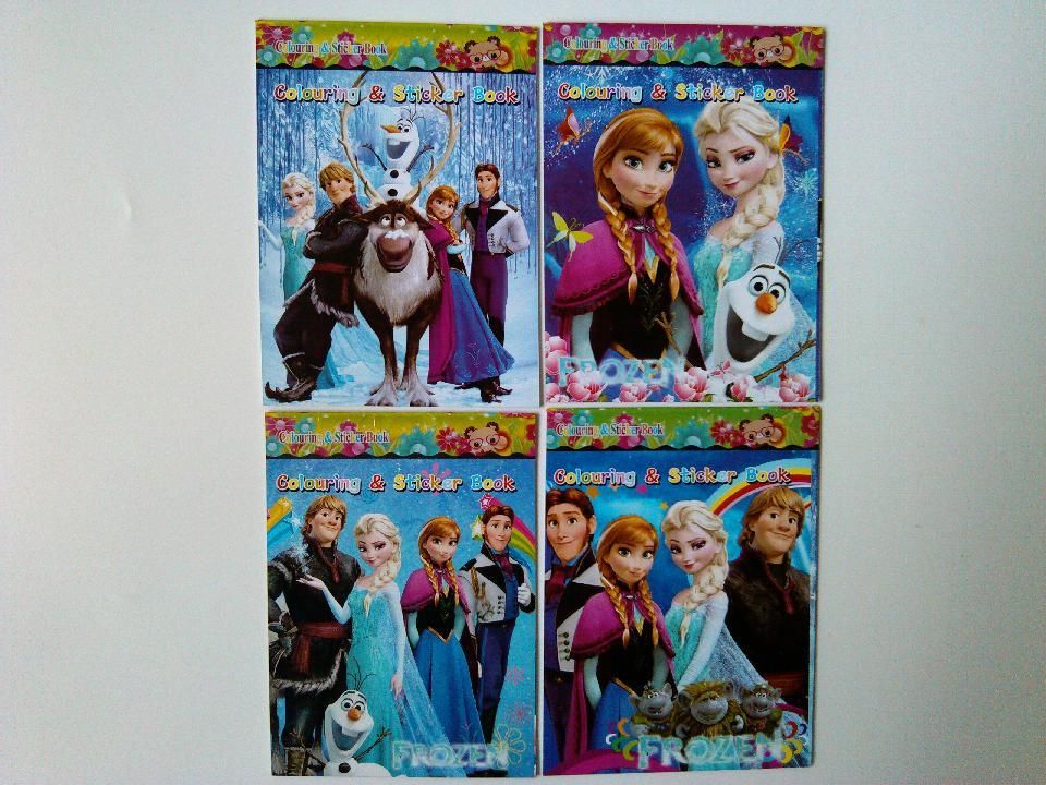 2017 Frozen Coloring Book Diy Colouring And Sticker 1115cm