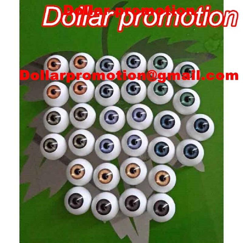 2016 Best Selling Gratis Verzending Groothandel-Reborn Baby Doll Kits 22 MM Doll Eyeball Toys Oembol Half Ronde Acryl Doll Eyes Anders Divery Colo