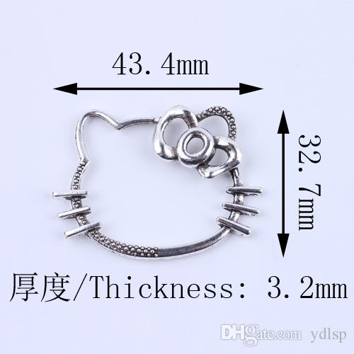 New fashion Retro Hello kitty charm silver/copper DIY jewelry pendant fit Necklace or Bracelets #5135