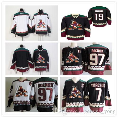 2019 1990 Vintage Arizona Coyotes Jerseys Ice Hockey 7 Keith Tkachuk 19  Shane Doan 97 Jeremy Roenick Black Red Alternate Classic Retro Jersey From  ... f58221bde