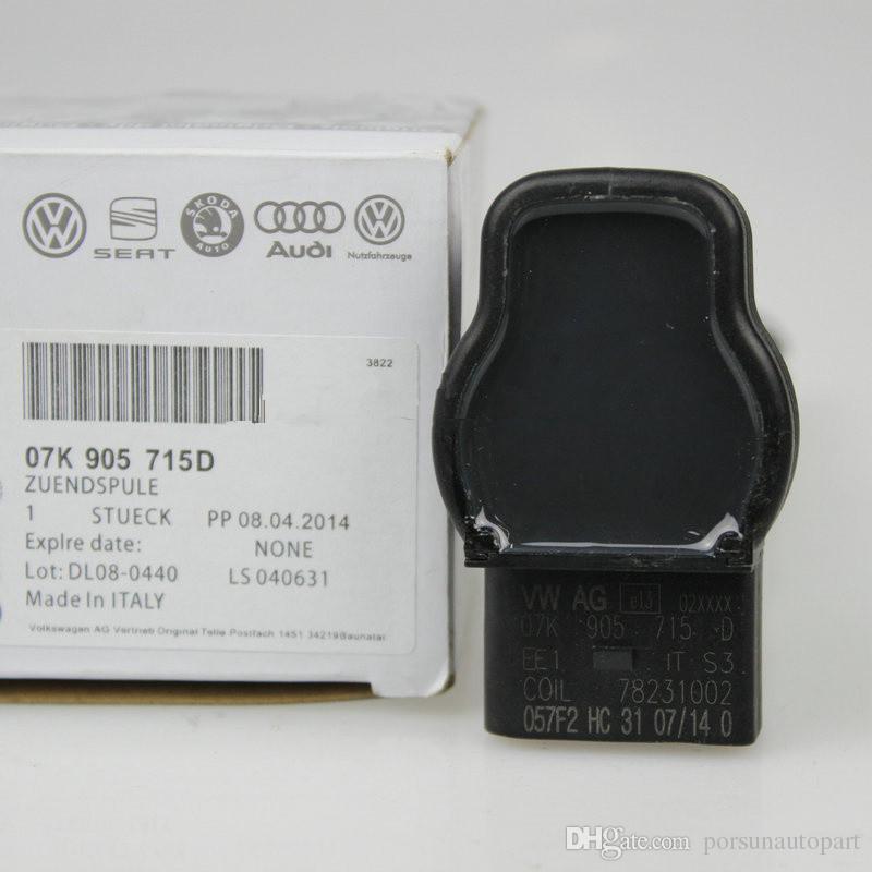 Genuine New Zündspule Für AUDI R8 A4A4L A5A6L Quattro Q5 CC Tiguan Magotan Golf6 Passat Rot Zündkerze 07K 905 715D 07K905715D