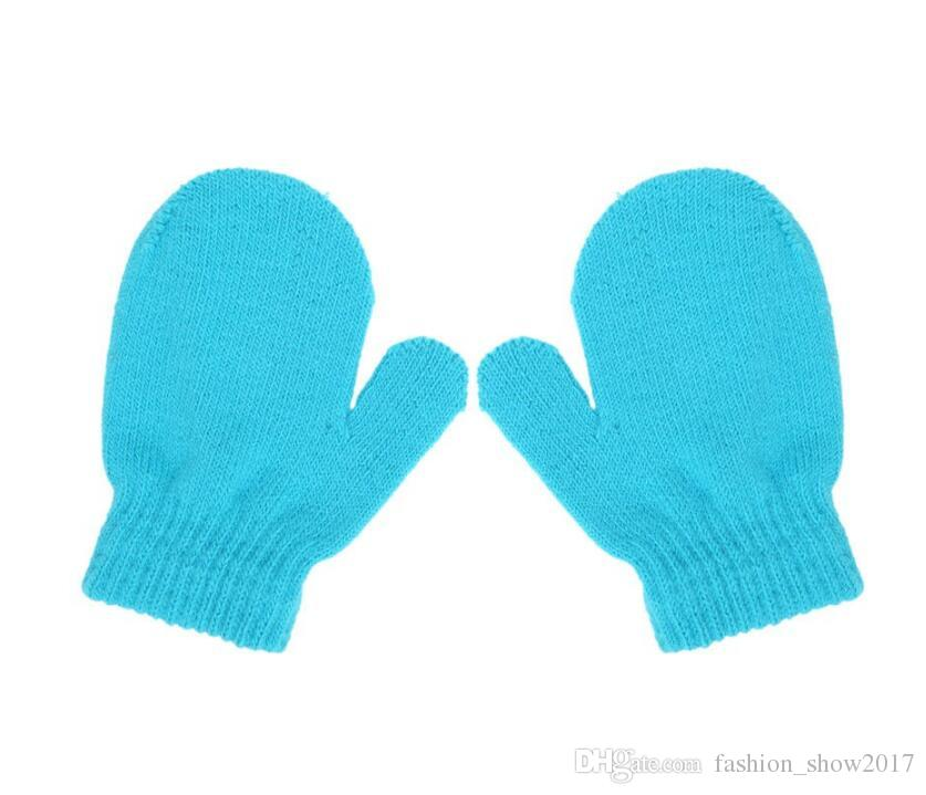 High Quality Baby Toddler Mittens Gloves Boys Winter Kids Knitting Gloves Anti-Scratch Cute Gloves