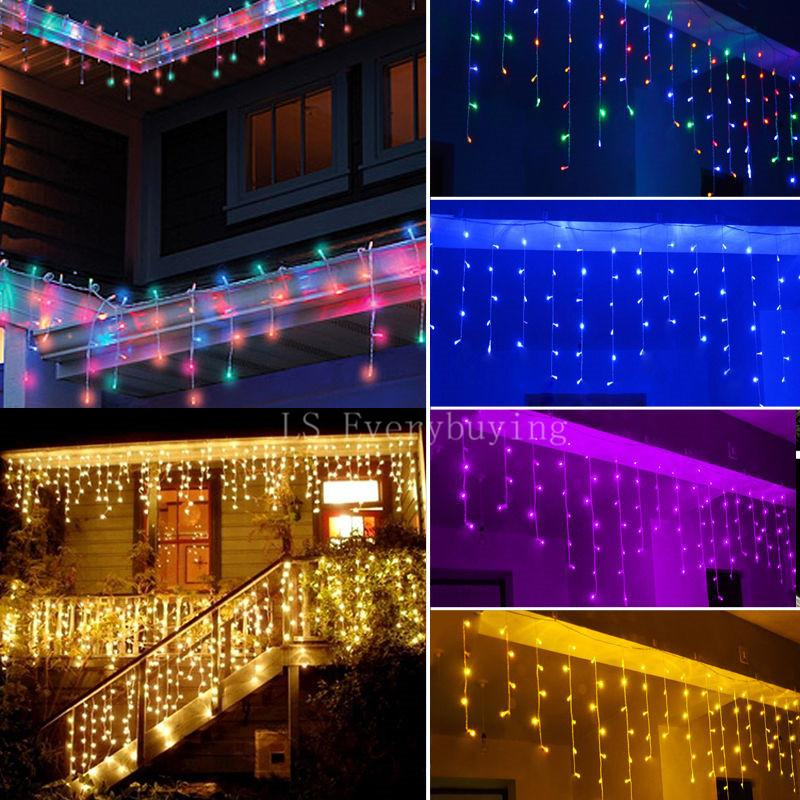 string lights christmas outdoor decoration indoor 35m droop 04 06m curtain icicle led string lights new year garden party christmas decorations for sale