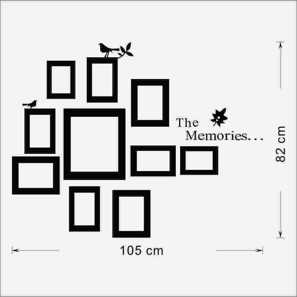 10x Bild Fotorahmen Set Fototapete Schwarz Hochzeit Rahmen Aufkleber Decal Decor Home Geschenk Abnehmbare, Dandys