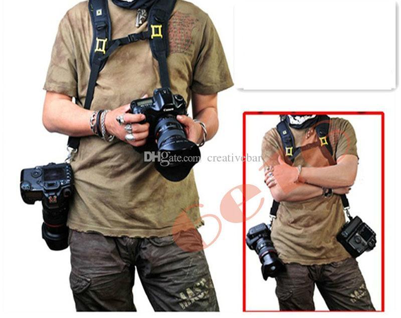 1e5008b08b5 2019 Wholesale Double Dual Shoulder Strap Belt Holster For DSLR Camera  Canon Nikon Sony From Creativebar