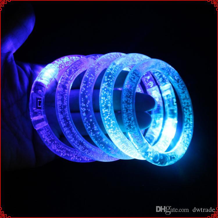 Blinkende led armband party disco leuchtende werkzeug farbe armband blinkende kristall armband weihnachtsgeschenk dhl versandkostenfrei moq: 500 stück svs0314 #