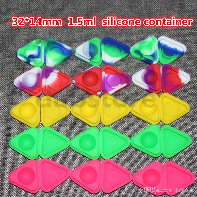 Wholesale Silicone Wax Containers 1.5ml Silicone Jars Dry Herb Wax Box Container Dab
