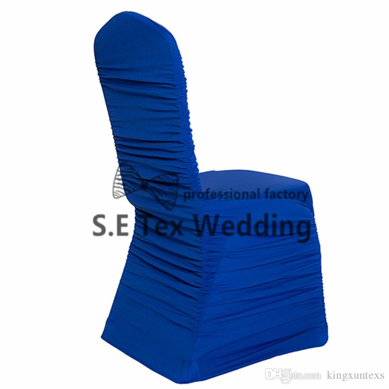 All Ruffled Lycra Spandex Chair Cover For Event Decoration Banquet Wedding Chair Cover