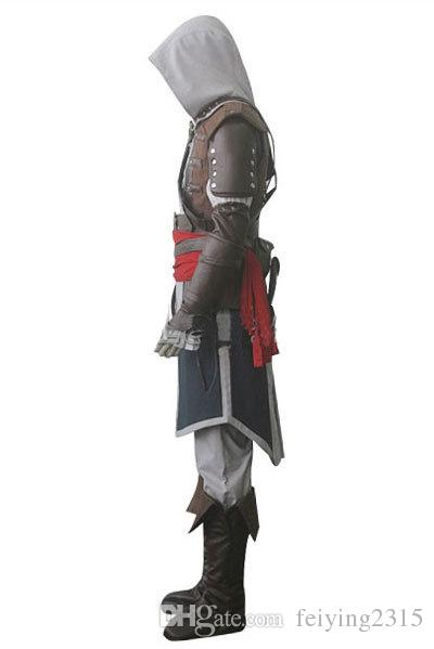Assassin's Creed IV 4 Bandeira Preta Edward Kenway Cosplay Conjunto Completo Custom Made Express Shipping