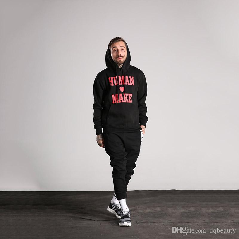 Winter and autumn hooded sweater male Korean black student sports hip-hop hoodie thin section jacket men and women couple