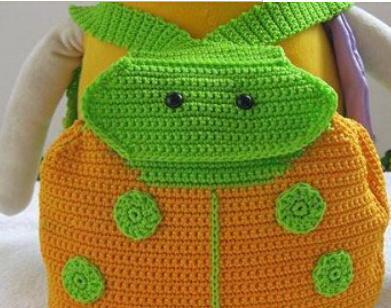 Handmade Crochet Backpack Bag Pack Shoulder Ladybug Kids Outdoor Bag
