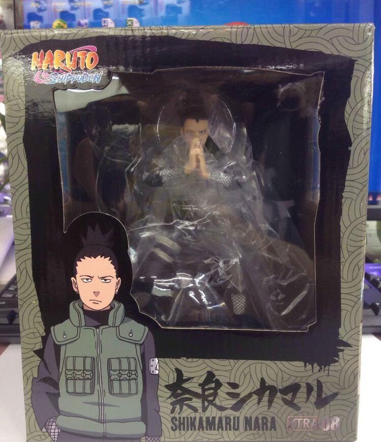 Naruto Shippuden Nara Shikamaru Acción de PVC Figura de colección Modelo Toy Japón animado 15cm con caja al por menor
