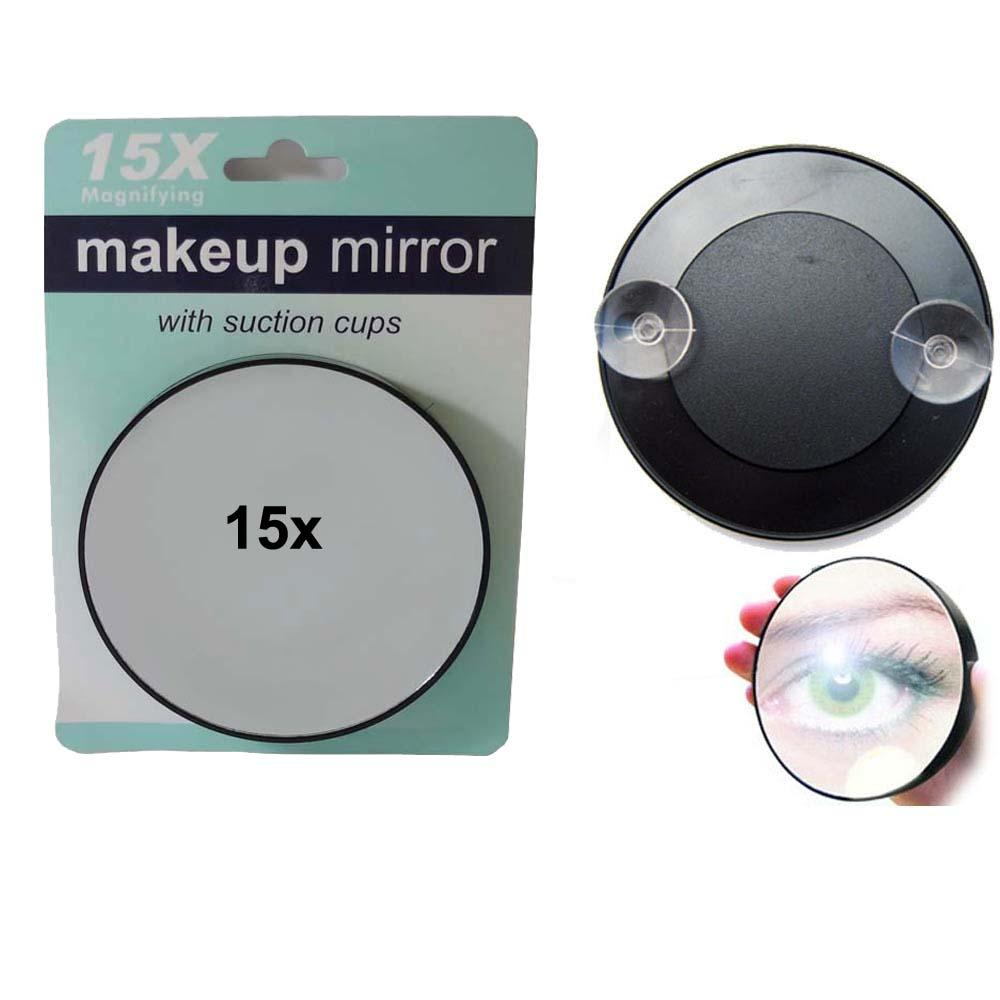 Magnifying Mirror 15x Suction Cup Makeup Compact Cosmetic Face Care Shave Travel Mf015 Hollywood Oval From Whitney 212