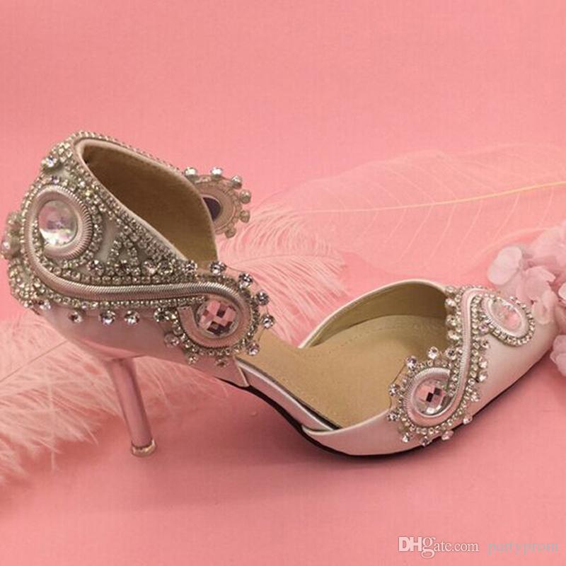 Compre Recién Llegado De Diamantes De Imitación De Cristal Zapatos ...