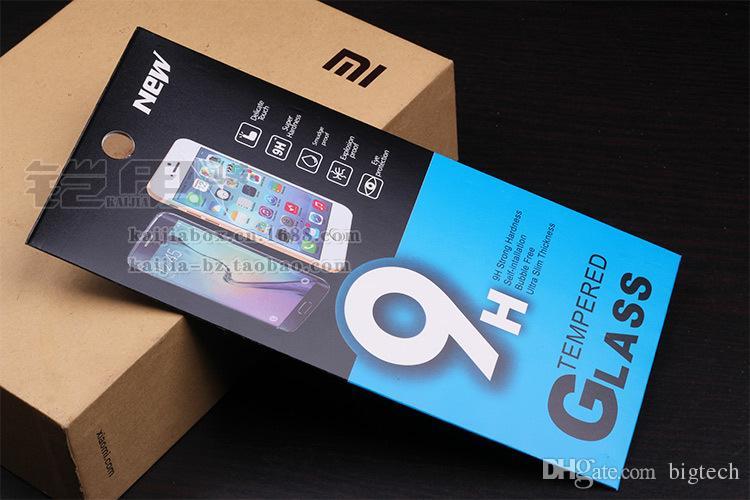 189 * 88mm Mobile vetro temperato proteggi schermo di vendita al dettaglio di imballaggio nuovo con Hang Hole pacchetto di stile di carta libro pacchetto borse