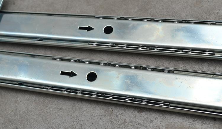 35mm silenciado desliza gaveta de hardware de móveis mesa do computador trilho teclado Gaveta pista bola levantamento suporte inferior
