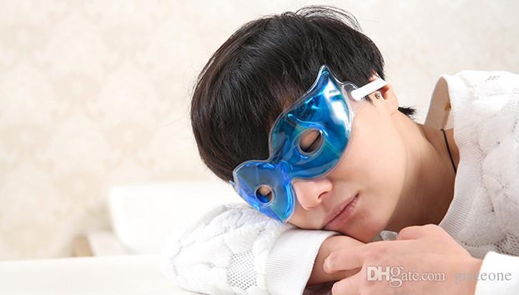 Envío libre de DHL fresco congelador máscara de ojo / congelador de pvc máscara de ojo / granos de gel máscara de ojos para viajar