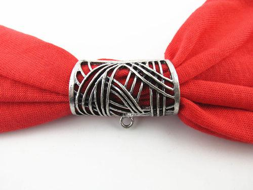 12 unids / lote caliente moda diy joyería bufanda colgante nuevo estilo de la aleación mental ahueca hacia fuera el encanto de diapositivas que sostienen las fianzas del tubo, envío gratis