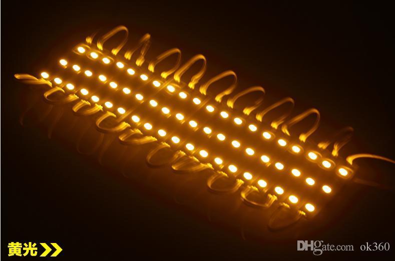 Superbright LED 모듈 조명 램프 SMD 5050 IP65 방수 LED 조명 모듈 로그인 LED 백라이트 SMD 3led DC12V RGB / Warm White / Red