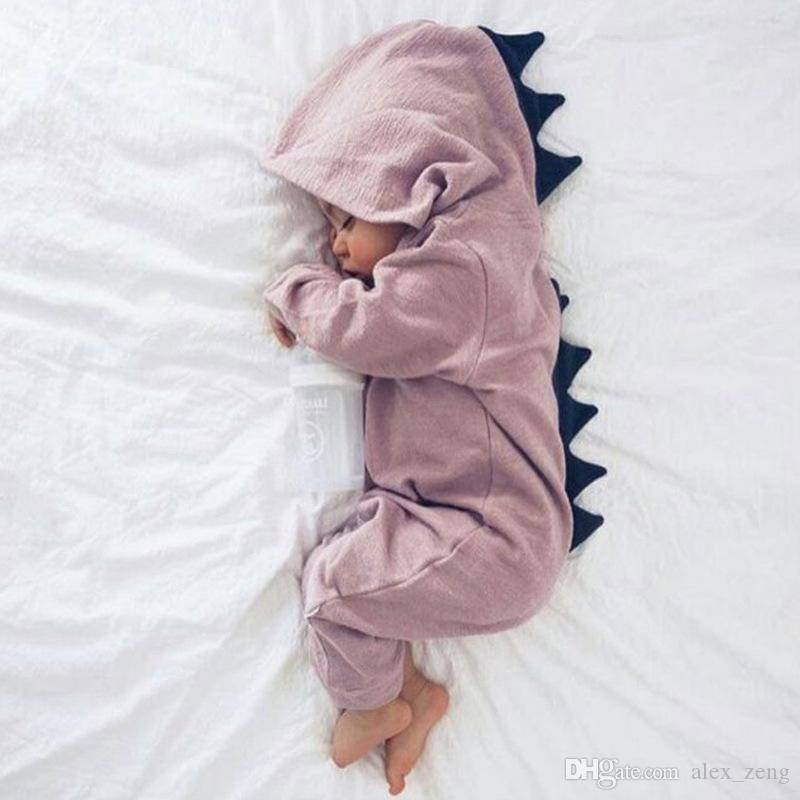 ملابس الطفل الكرتون الفتيان الفتيات نيسيس الخريف ديناصور طويل الأكمام طفل رومبير أزياء لطيف الرضع بذلة الخريف ارتداءها