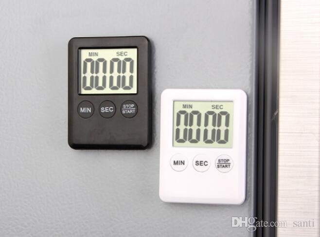 i Quadrati Ampio LCD Digitale Timer da Cucina Timer da Cucina Sveglia Magnete Despertador Orologio da Tavolo Digitale Temporizzatore Temporizzatore Bar