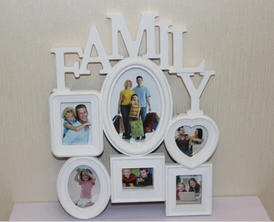 Art Frames Wall Mounted Family Album Frame For Home Decoration White ...