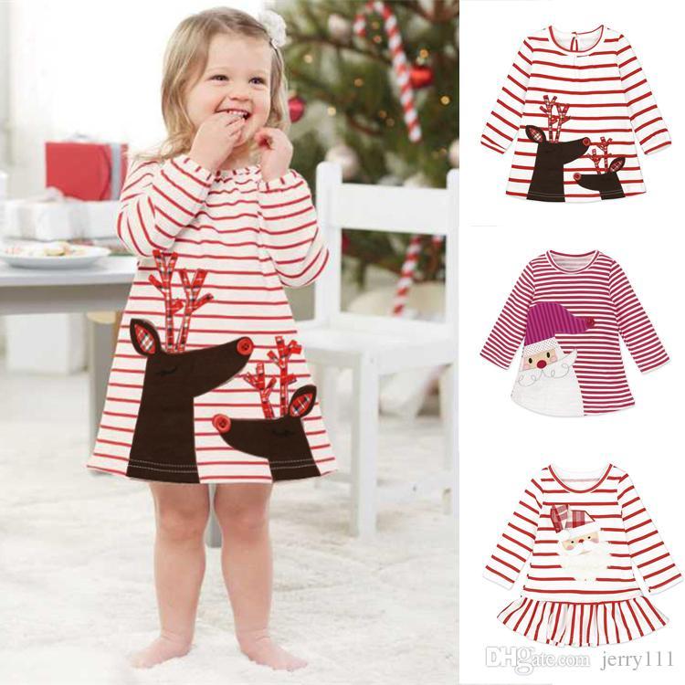 c510e5dd50c1 2019 Newborn Baby Girl Dress Autumn Girls Long Sleeve Striped Dress ...