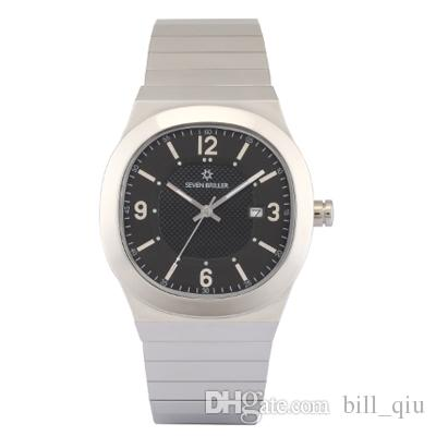 The French sevenbriller men watch table stainless steel waterproof quartz Swiss watch Mens Watch
