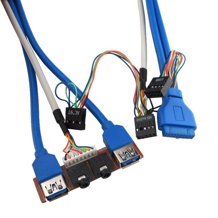 usb3 0 front panel usb2 0 cable 20pin connected with. Black Bedroom Furniture Sets. Home Design Ideas