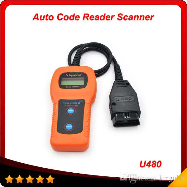 2015 Top selling memoscan U480 OBD2 CAN BUS & Engine Code Reader High  quality free shipping