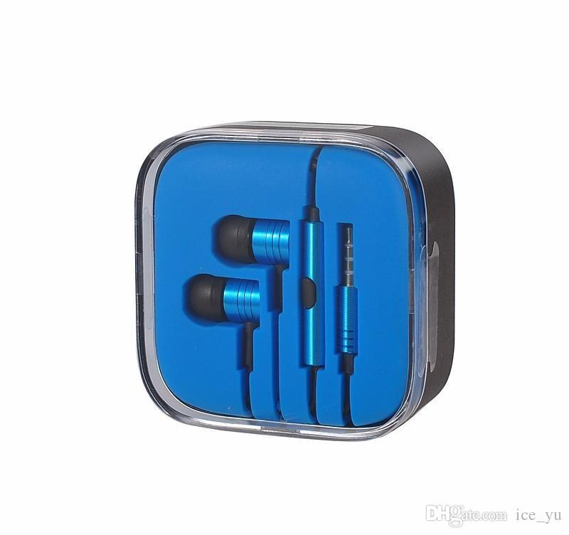 3.5mm Metallo Xiaomi pistone Cuffie Auricolari a cancellazione di rumore Auricolari In-Ear con microfono Telecomando Xiaomi Samsung iphone 6 6s