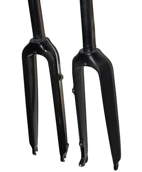Karbon MTB bisiklet çatal tam karbon fiber dağ bisiklet çatal parlak mat 26 / 27.5 / 29 er parçaları bisiklet 1-1 / 8 '' 28.60mm mat parlaklık