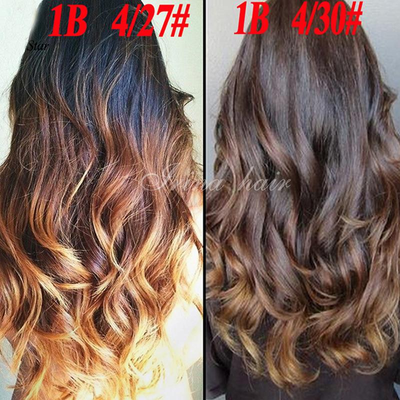 Top grade ombre hair extensions brazilian virgin hair body wave top grade ombre hair extensions brazilian virgin hair body wave full human hair weave bundles 3 tone color ombre 1b427 or 1b430 hair for weaving human pmusecretfo Image collections