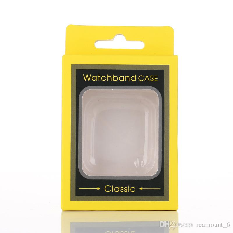 Retail Box Embalagens para iWatch Caso DIY Logo Printing Paper Package Box para Apple Watch Tampa Com Inner Bandeja frete grátis