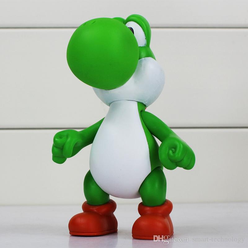 Super Mario Bowser Yoshi Mario Luigi Donkey kong Wario Toad Toadette PVC Figure Toy Model Dolls Action figures toy 12cm