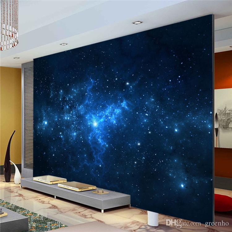Beautiful Blue Galaxy Wall Mural Beautiful Nightsky Photo Wallpaper Custom Silk  Wallpaper Art Painting Room Decor Children Room Bedroom Living Room Hd  Wallpapers Hd ... Part 6