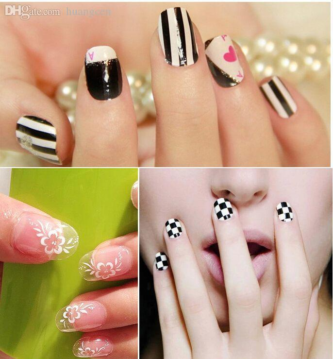 Wholesale Fashion Nail Tip Stickers Nails Art Nail Decals Stickers ...