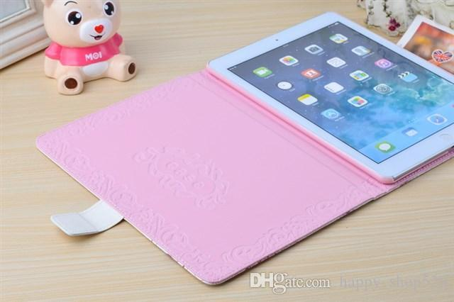 Tablet PC Case Unique nine Style With Diamonds PU Leather iPad Case stand holder For ipad Mini 2 iPad 2/3/4/5 High Quality