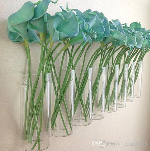 تصميم الجدار الحديثة جدار الزجاج المزهريات أواني الزهور المزارعون الرئيسية الديكور المزهريات