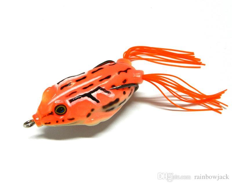 المياه العذبة crankbait رأس الأفعى الصيد السحر 5.5 سنتيمتر 12.5 جرام 3d عيون توبواتر العائمة لينة راي الضفدع البلاستيك بوبر الطعم