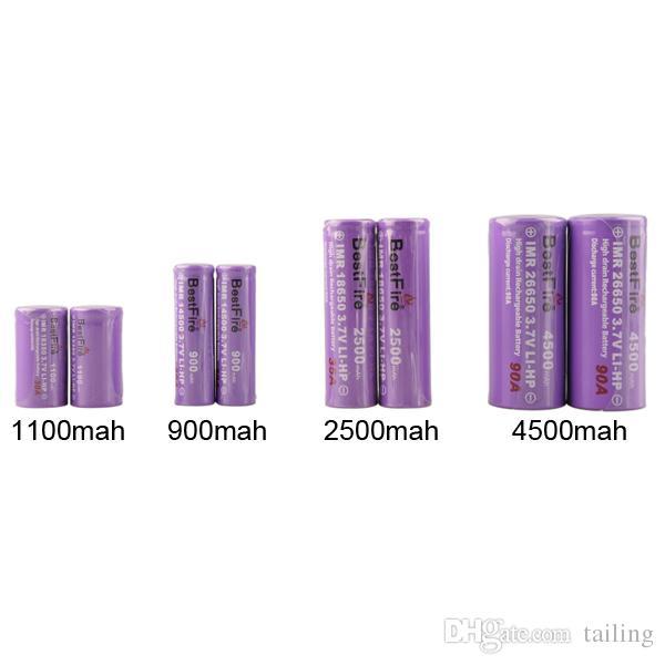 Bestfire 26650 18650 18350 batteria 14500 Best Fire batterie 3.7 V 900mah - 4500 mah Ricaricabile scatola di sigarette elettroniche mod nave libera