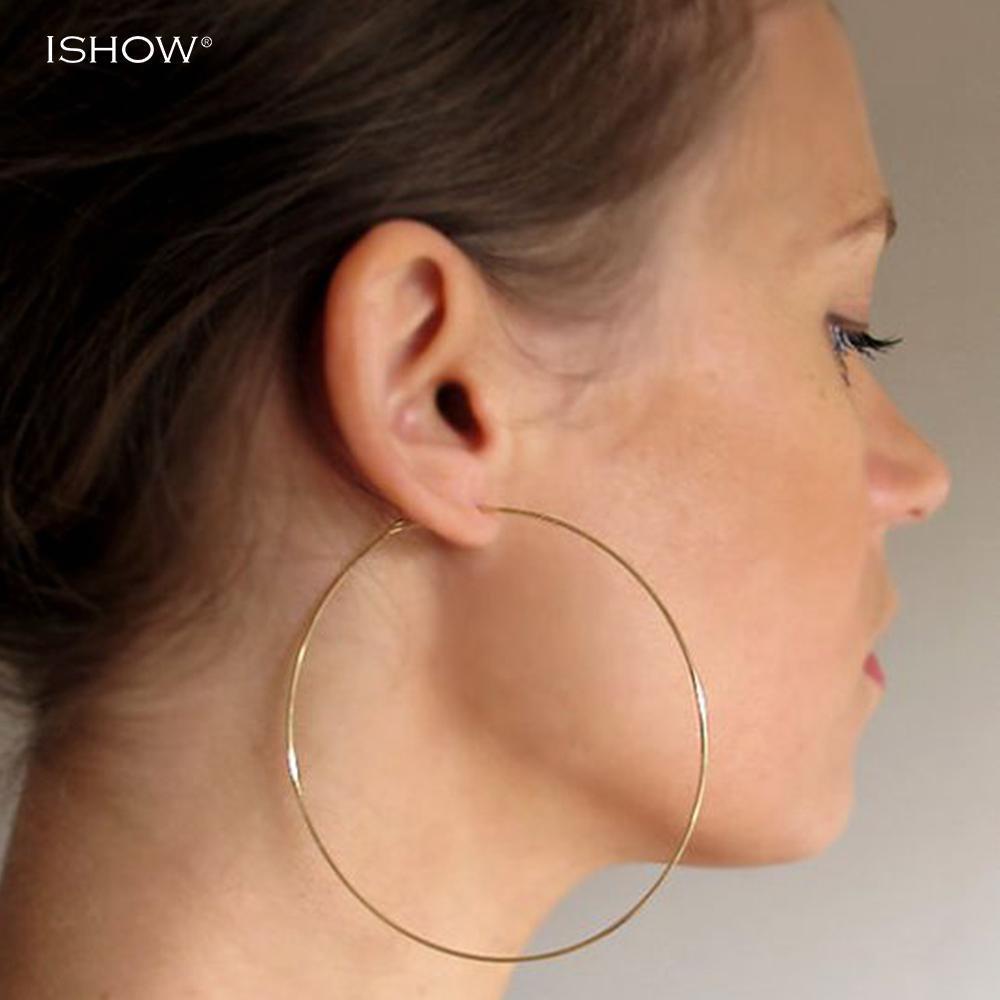 9dade6d45327a Wholesale- 70 mm Thin 45 Hoop Earrings 60 Big Hoop Earrings Lightweight  Simple Hoops Silver Plated Delicate Minimalist Hoops Jewelry