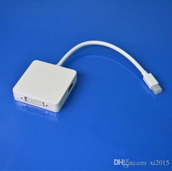 Factory Top Quality Product 3 in 1 Mini Display Port to HDMI+DVI+DP Adapter For MacBook